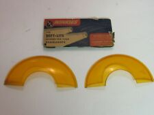 Vintage 1940 's- 1950 's Accessory Amber Headlight Covers ' Winkies' New Old Sto