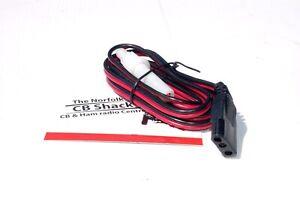 3 PIN CB FUSED POWER LEAD CABLE  Audioline Uniden Realistic Midland Danita