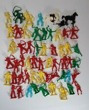 Vintage Timmee Cowboys And Indians Lot Bright Colors Horses