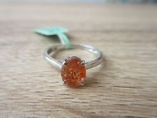 Masai Sunstone Ring Platinum Overlay Sterling Silver Size 7,8,9 Option