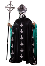Trick Or Treat Ghost Papa Emeritus II Metal Adult Robe Halloween Costume TTGM117