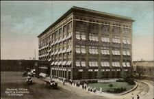 Chicago Il Swift & Co General Offices c1910 Tinted Real Photo Postcard