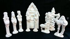 Ceramic 9 piece Nowells nativity set