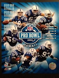 2006 INDIANAPOLIS COLTS NFL PRO BOWL PLAYERS 8X10 PHOTO