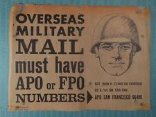 U.S. Post Office, 1967 poster, Overseas Military Mail must have APO #s
