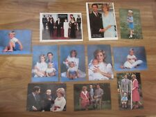 Princess Diana Prince Charles And Prince William Prince Harry LOT Post cards