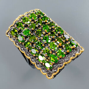 Chrome Diopside Ring Silver 925 Sterling Luxury Fashion Women Size 7 /R135035