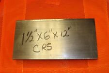 """Cold Rolled steel  Bar 1 1/2"""" X 6"""" X 12"""" 1018"""