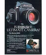 1977 MAMIYA M645 Medium Format SLR Vtg Print Ad