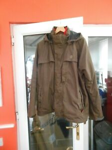 MENS TIMBERLAND 3 IN 1 BENTON JACKET -  SIZE XL - BROWN - IN A GOOD CONDITION