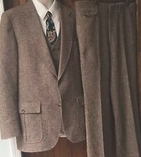 Vintage Jodhpurs 3pc Suit by PBM Philadelphia Wool Retro Size 40R 34W X 32L
