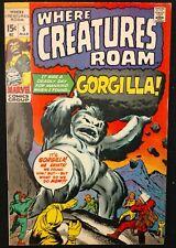 WHERE CREATURES ROAM #5 1971 SWEET VF PRE-HERO ATLAS GORGILLA  DITKO,KIRBY