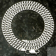 "Curb 080-16"" 3mm Heavy 6.8 Gram Italian Link .925 Sterling Silver Chain 16"""