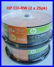 HP CD-RW 12X 700MB 80min Rewritable Disc 2 X 25 Pack Bundle