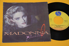 """MADONNA 7"""" 45 LIVE TO TELL 1°ST ORIG ITALY 1986 EX"""