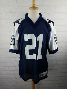 Vintage Football Jersey Dallas Cowboys Julius Jones #21 Reebok Throwbacks Size L