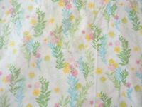 Fitted Sheet Vintage 1970's Cannon Full Size Muslin Bright Floral Print