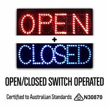 HQ 12V Epoxy 'Coffee Cup Open' LED Sign 60cm x 30cm w/ 3 Modes & Power Adapter
