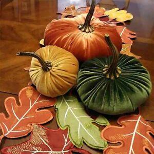 Handmade Artificial Pumpkin Simulated Halloween Party Decoration Velvet Pumpkin