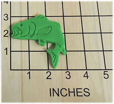 Fishermans Bass Fish Shaped Fondant Cookie Cutter and Stamp #1121