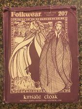 Vtg Folkwear Sewing Pattern Ladies Antique Kinsale Cloak Cape #207