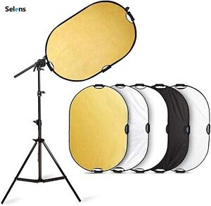 Selens Light Reflector Handle Photography 5in1 Collapsible Boom Arm Holder Stand