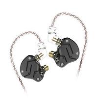 KZ ZSN in-Ear Earphones 1DD+1BA HiFi Monitor Headphone Noise Cancelling Headset