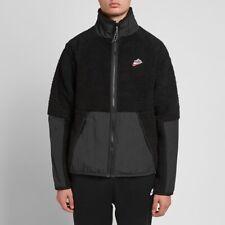 Nike Sportswear Sherpa Fleece Jacket Black BV3720-010 Men's Size Medium
