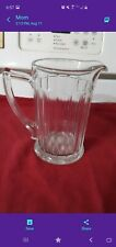 New listing Glass Pitcher. 6 3/4 inches tall