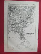 1920 SEABOARD AIR LINE RAILWAY RAILROAD SYSTEM MAP DEPOT LOCATION 97 YEARS OLD