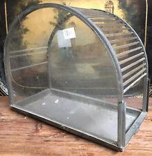 Cage à Oiseaux en Verre Art Deco Design Moderniste Vintage 1930 Lustre