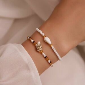 2021 Boho Colorful Beads Flower Bracelet Sets Women Charm Party Jewelry Gifts