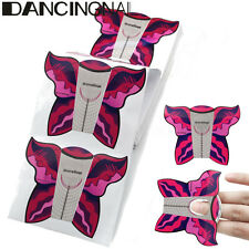 100pcs Butterfly Nail Art Forms Guide Tip Extension Sculpting Acrylic UV Gel