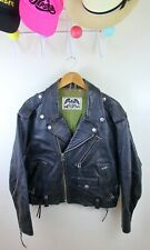 Vintage Avirex Motorcycle Club Jacket Black Leather Perfecto Biker 50s 60s
