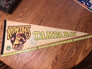 "Rare 1970's Tampa Bay Rowdies NASL Soccer Team Full Color Pennant Vintage 30"" !"