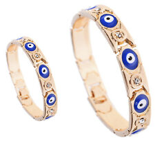 Fashion Turkish Bracelet Blue Evil Eye Crystal Beads Chain Nazar Protector Lucky