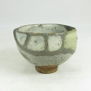 A639: Really old Japanese KARATSU pottery ware cup over 300 years or more ago