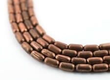 Tiny Copper Oval Beads 4x2mm 24 Inch Strand