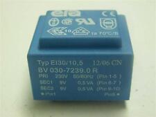 Print Trafo 230V 50/60Hz 2x9V 0,5VA Typ EI30/10,5 1 Stück