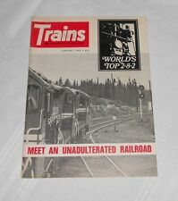 VINTAGE TRAINS MAGAZINE RAILROADERS JANUARY 1969 JAN TOP 2-8-2 RAILROAD RR
