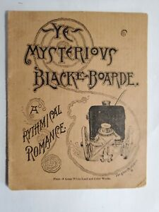 Late 1800's Advertising Acme Paints Ye Mysterious Blacke Boarde Children's Book