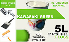 Car Paint 5L 1K SYNTHETIC KAWASAKI GREEN suitable for banger racing & industrial