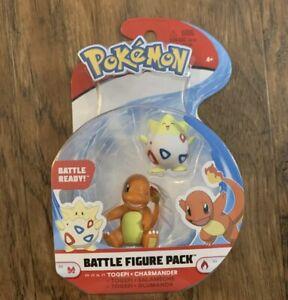 NEW Pokemon Battle Figure Set Togepi & Charmander WCT - FAST FREE SHIPPING-