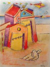 """Dimitris C. Milionis """"CYCLADIC AEGEAN"""" Colored Drawing Paper Greek 2002"""