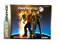 Fantastic 4 Nintendo Game Boy Advance Instruction Manual Booklet ONLY