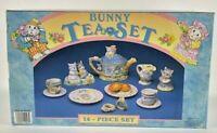 Vintage Mercuries Bunny Easter 14 Piece Childrens Tea Set ~ New Open Box