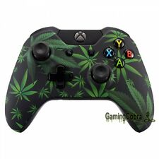 Green Weed Patterned Replacement Mod Front Housing Shell for Xbox One Controller