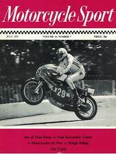 Motorcycle Sport Magazine 1975 July Kawasaki 250-3 S1C 90 MC1 100 G7T Test 7664F