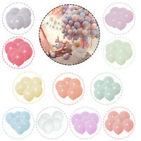 "100pcs Macaron Candy Colored Balloons Pastel Latex Balloons 10"" Party Decoration"