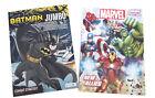 Batman  The Avengers Kids Marvel Comics Coloring Book Activity Books Set of 2